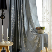 Bedroom Living Room Windows Curtains Children Curtain Fabric Girl Boy Gone Semi Shade Cloth Curtain Embroidered