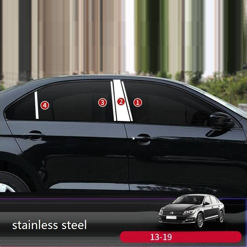 Window Exterior Durable Automobile Auto Chromium Sticker Strip Bright Sequins Accessories 13 14 15 16 17 18 19 FOR Skoda Rapid in Chromium Styling from Automobiles Motorcycles