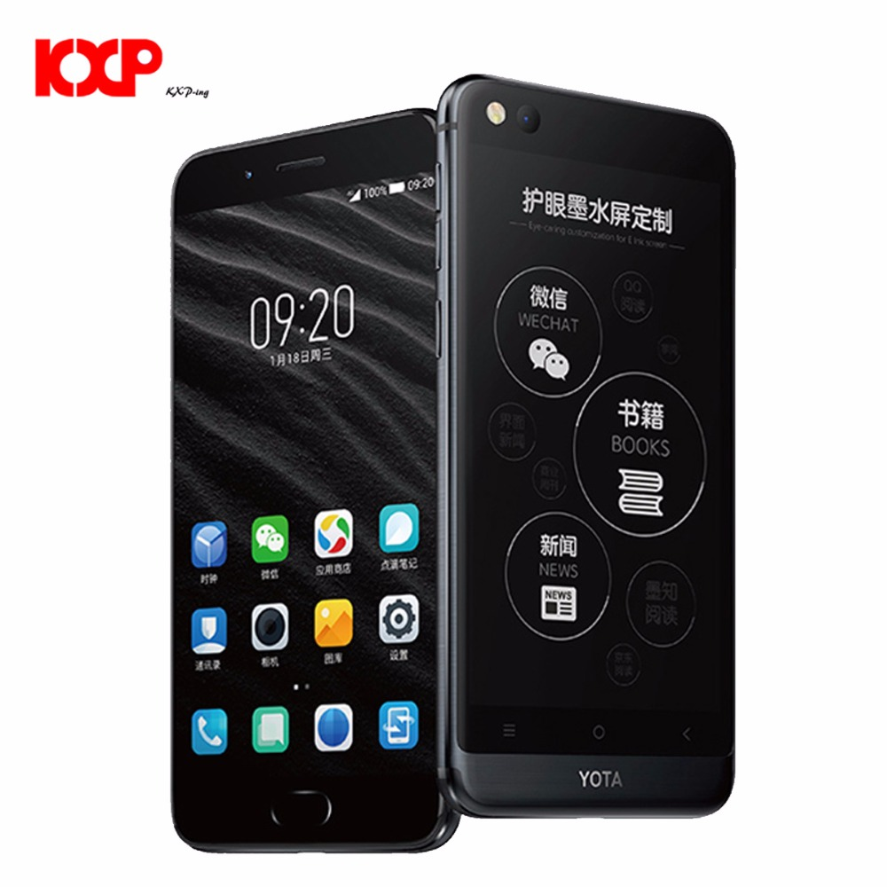 """Yota Yotaphone 3 4G Only English Octa Core Android7.1 4G+64G Dual Scree Smartphone 5.5"""" HD screen 5.2"""" Touch E Ink mobile phone"""