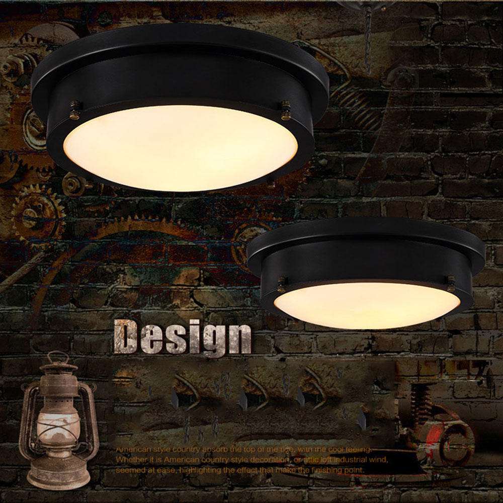 Led 18W Indoor Lighting Retro Ceiling Light 110V-220V American Retro Style Iron Flush Mount Ceiling Lamps Fixtures Stair Light american country bedroom corridor balcony lamp led 12w 18w 24w round led ceiling light indoor lighting lamps ac 110v 220v