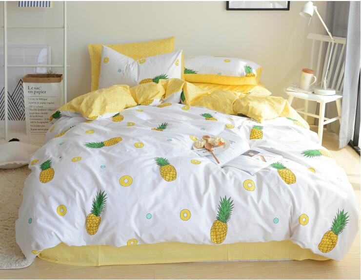 Pastoral Style Bedding Sets 4pcs Queen King Size 100