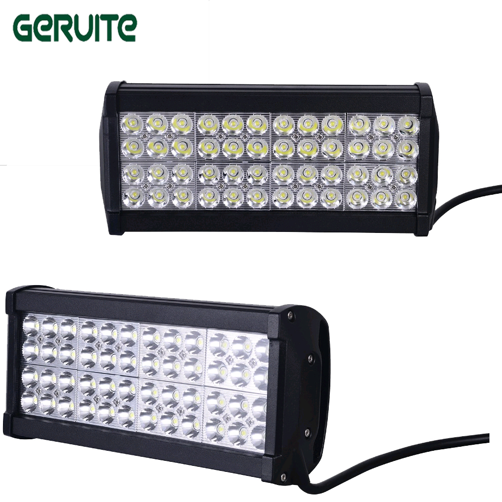 2 Pcs 12inch 144W LED Light Bar Combo/Spot/Flood Beam For Off Road 4X4 Truck Tractor Boat SUV ATV AUTO CAR LED Work Light Bar led work light bar 240w offroad boat car tractor truck 4x4 4wd suv atv 12v 24v spot flood combo beam strip lights factory sale