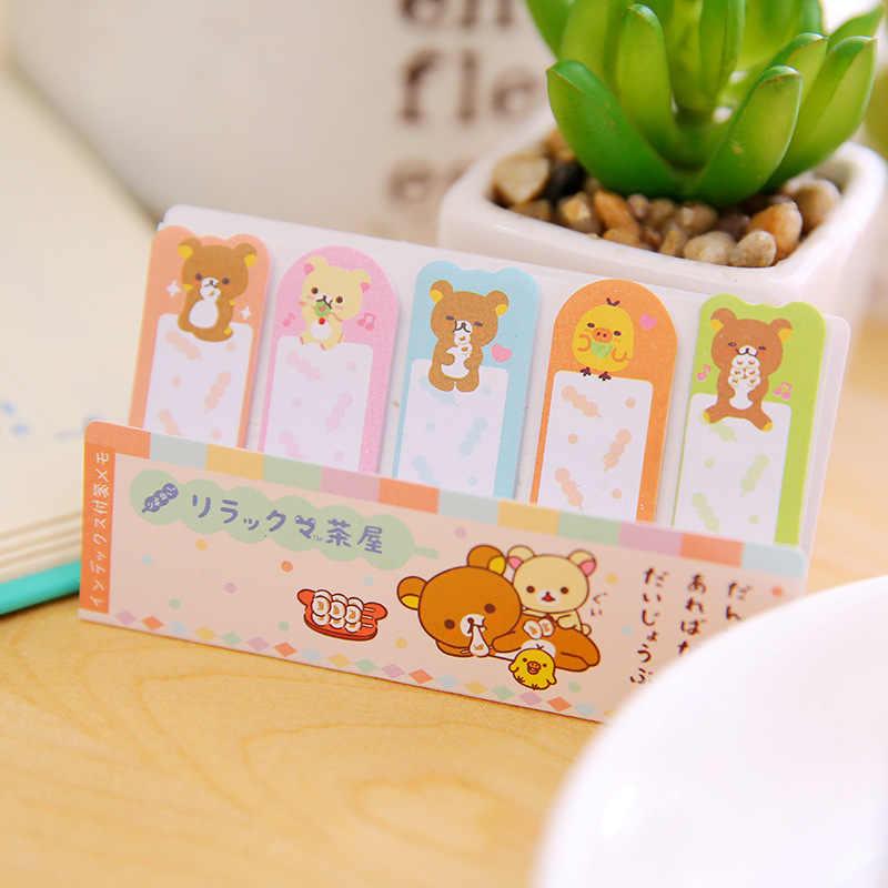 1 piezas nuevo lindo oso-índice notas Bloc de notas cuaderno de notas papelería pegatinas de papel de la escuela suministros