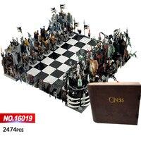 Классический замок гигантские шахматы Building Block рыцарь мастер Скелет цифры колесница кирпичи 852293 коллекция игрушек для детей и взрослых