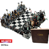 Classic Castle giant chess building block knight wizard Skeleton figures chariot bricks 852293 toys collection for kids adult
