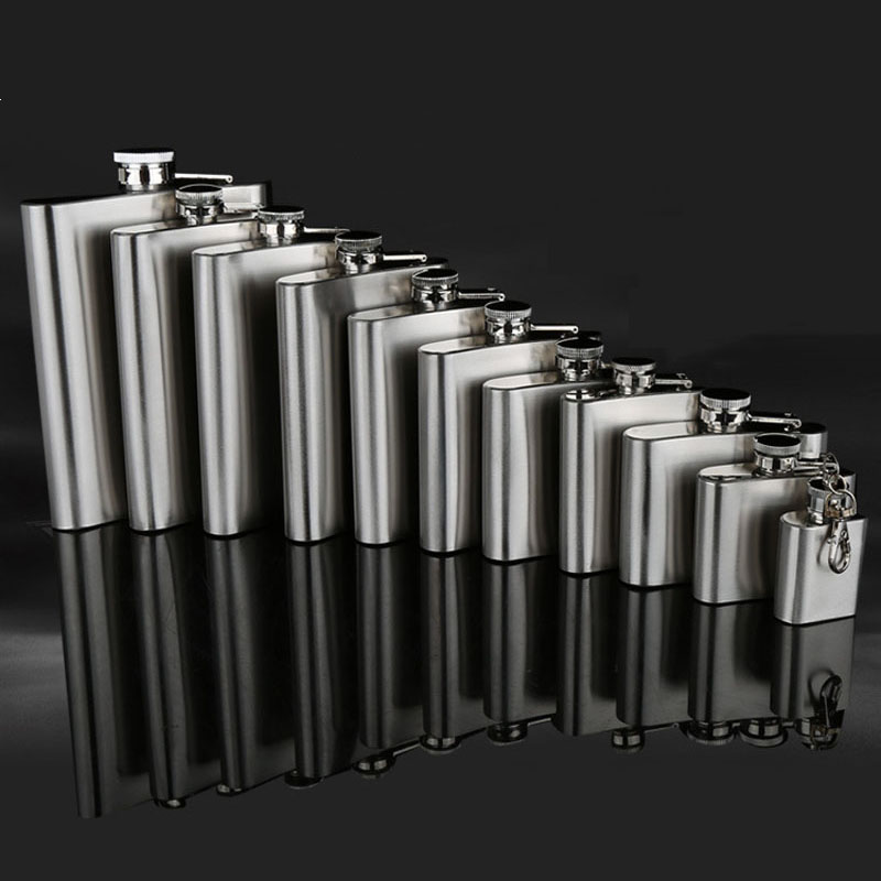 UPORS 18/10/9/8/7/6/5/4/1 OZ Hip Flask High Quality Portable Stainless Steel Hip Flask Liquor Bottle Alcohol Wine Whiskey Flask