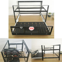 6 GPU Aluminum Stackable Open Air Mining Miner Frame Rig Case 6 Graphics Card GPU Computer