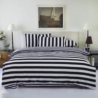 New Drop Ship Bedding Set Twin/Full/Queen Size Duvet Cover Set Classic Black and White Bed Sheet Sets Home Textile