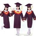 Niños Estudiantes de Rendimiento Académico Dr Vestido para Niñas niños Dr. Graduado de tela Traje de Dr. Cap Niño Uniforme Escolar Para Las Niñas niños