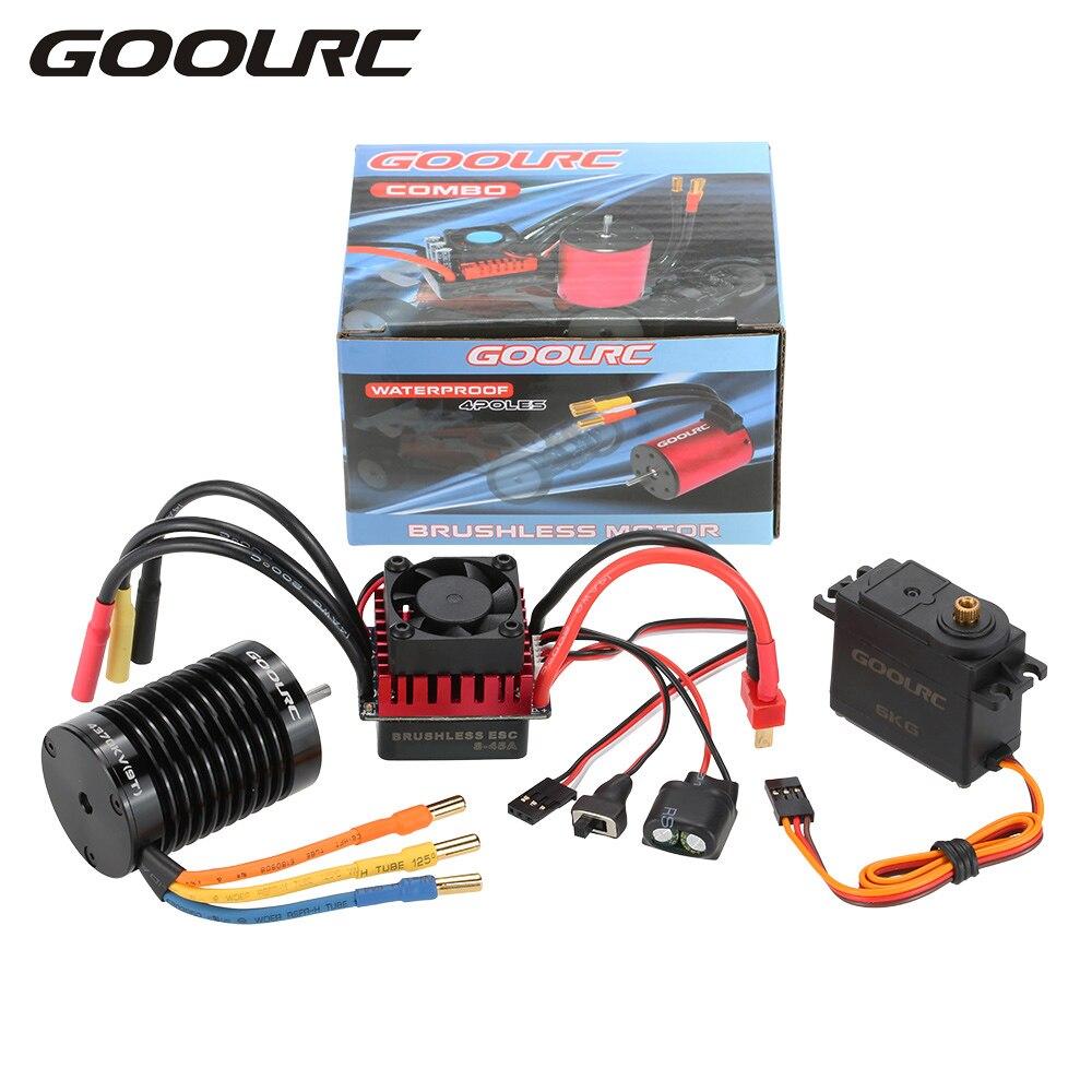 GOOLRC F540 4370KV Motor sin escobillas S-45A ESC con 6,0 kg de Metal Gear Servo actualización sin escobillas Combo Set 1/10 RC coche camión