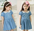 Free Shipping 2014 New  children's Girl summer clothing School Style Jeans  princess Dress / party dresses clothes for girls