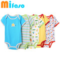 5 pcs/lot Baby Short-sleeve rompers baby boy jumpsuit Newborn baby cotton romper Jumpsuits & Rompers