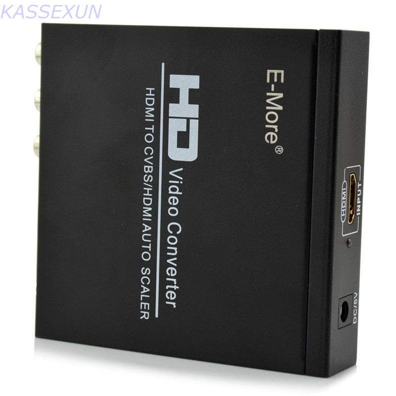 HDMI TO HDMI/CVBS AUTO SCALER Support NTSC/ PAL HD Video Converter for TV,VHS, VCR,DVD recorders support HDCP composite av cvbs 3rca to hdmi video converter adapter full hd 720p 1080p for hdtv vcr dvd vhs ps3 xbox white new