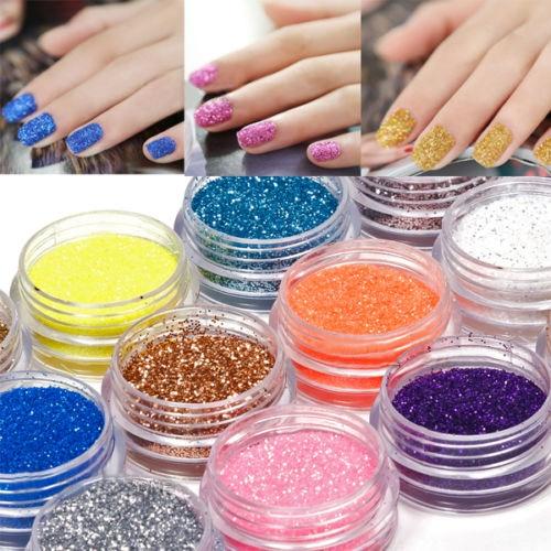 18 Colors UV Gel Acrylic Metal Powder Glitter Nail Art Salon  Dust Set For Beauty Decorations Chic Design 5GHB