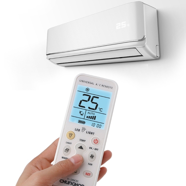 K-380E Smart Universal LCD Air Conditioner A/C Remote Controller Without  WiFi