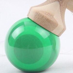 Image 5 - 1 Piece Professional Bamboo PU Paint Wooden Kendama Balls Skillful Jumbo Kendama Outdoors Juggle Game Balls Toys for Gifts