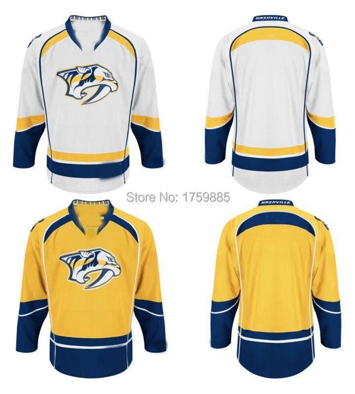 buy popular c85cf 0928f Cheap Nashville Predators Blank Hockey Jersey Home Gold ...