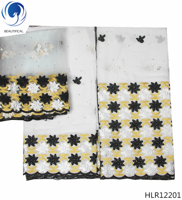 1644bf6b3 US $36.54 37% OFF BEAUTIFICAL white lace material high quality swiss cotton  voile lace austria swiss lace fabric for men 7 yards per set HLR122-in ...