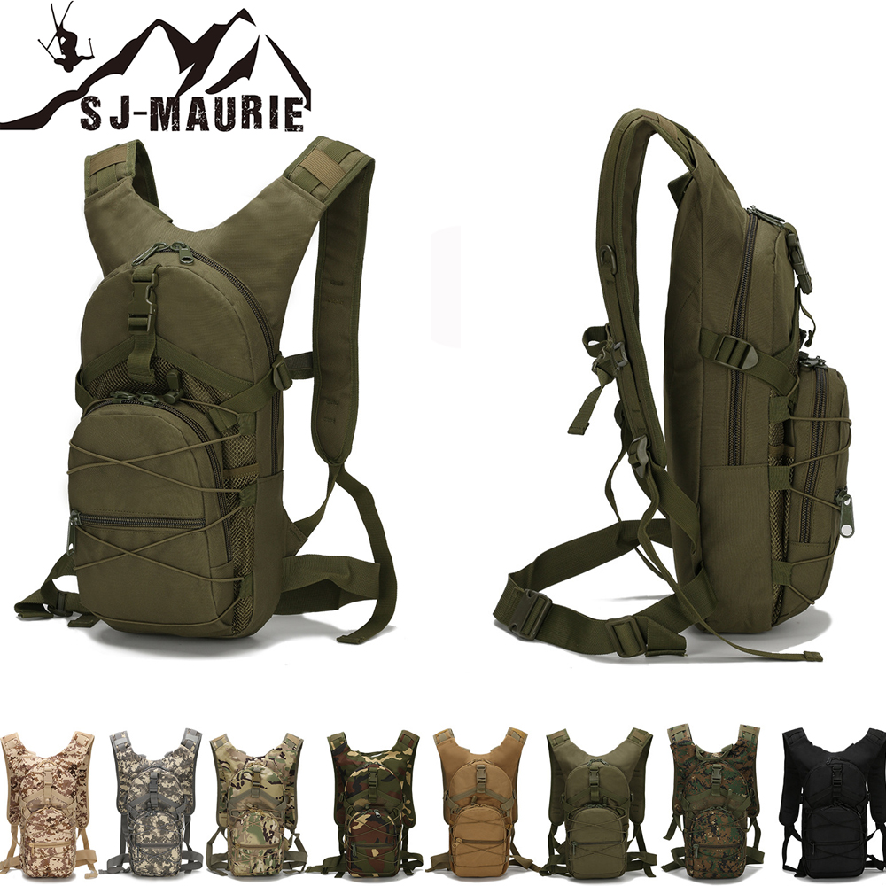 SJ-Maurie Tactical Backpack Military Rucksack Hiking Bicycle Backpacks 8 Colors Outdoor Sports Cycling Climbing Camping Bag 15L new 15l outdoor cycling backpack sports bags 3p tactical camouflage oxford bicycle backpacks women men camping running rucksack