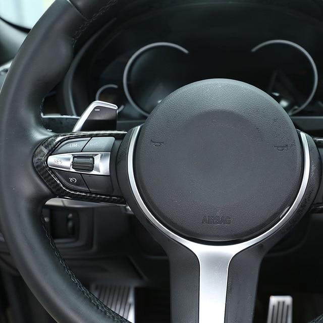 Carbon Fiber For BMW F20 F22 F21 F30 F32 F33 F36 F06 F12 F13 X5 F15 X6 F16 M-Sport ABS ChromSteering Wheel Decoration Frame Trim 5
