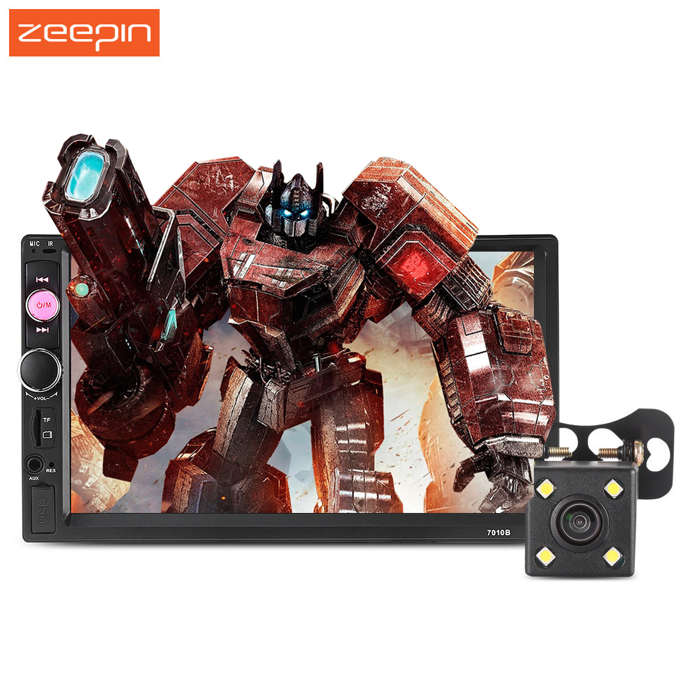Zeepin 7010B 7 inch Car MP5 Player Bluetooth V2.0 Audio Stereo TFT Screen AUX FM Auto Radio Support Backup Camera Remote Control zeepin 13 3 inch car multimedia roof mount player 1080p 120 degree rotating screen ir fm remote control wireless games auto dvd