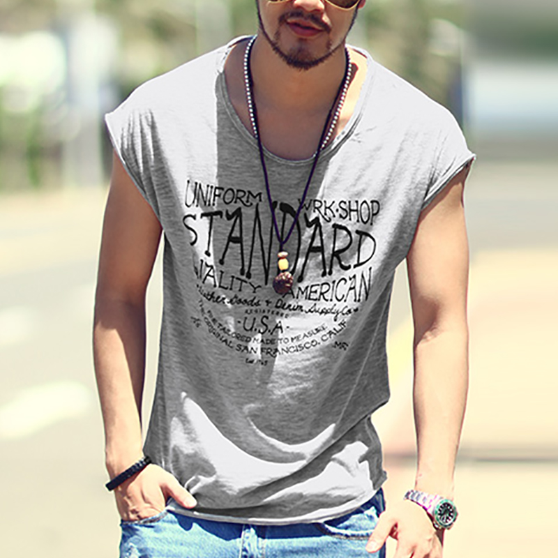 Men Summer Deep V Neck T-Shirt Men Fashion Casual Cotton Solid Short Sleeve printing T Shirt Male Muscle Fitness Tight Top Tees