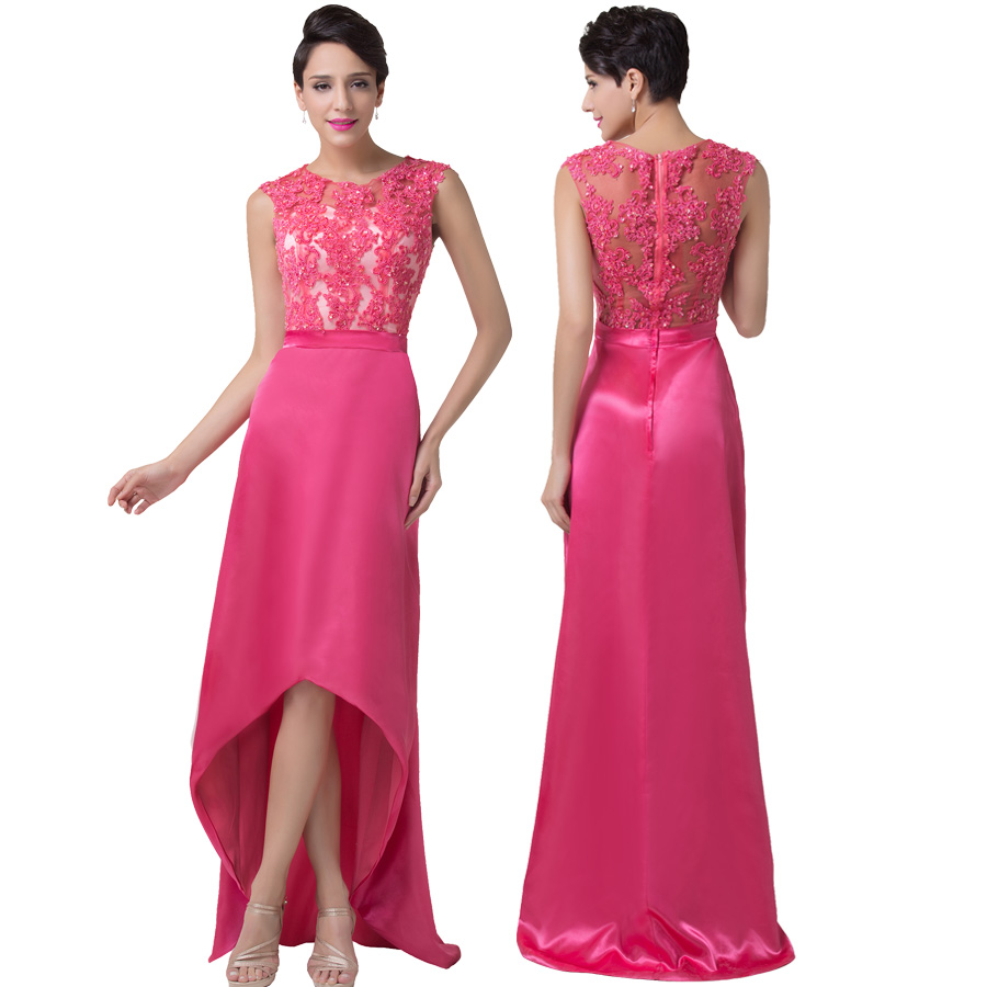 Grace karin deep pink evening dresses 2017 women a line for Wedding party dresses for women