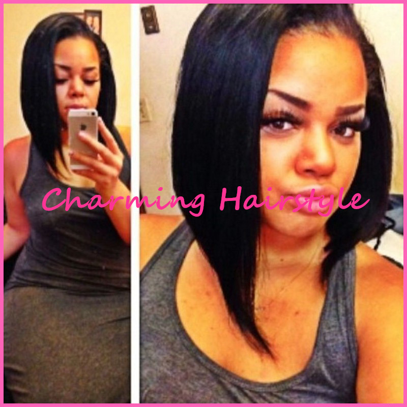 Hot Sale Black Short Female Haircut African American Wigs With