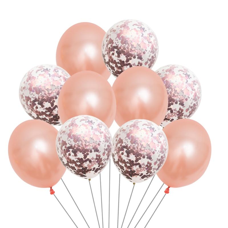 Globo de oro rosa con globos de confeti de papel DIY Celebra la - Para fiestas y celebraciones