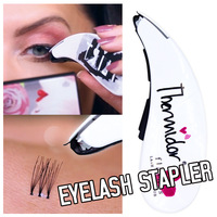 Hot Mini Eyelash Stapler False Eyelashes Natural Curl Eyelash Extensions Fake Lashes Tweezers Contains 45 Clusters