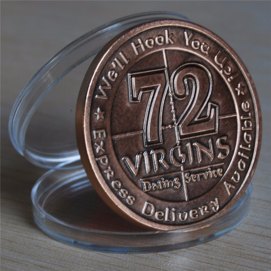 NEW US Army 72 Virgins Bronze Antique Challenge Coin (10)