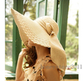 Womens Ladies Girls grande ancho playa del verano del borde Sun Straw Hat Visor Cap h408