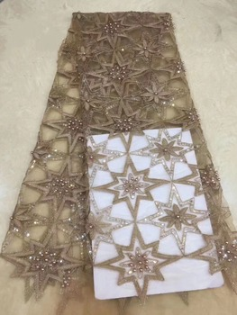 African Lace Fabric 2019 Embroidered Nigerian Laces Fabric Bridal High Quality French Tulle Lace Fabric For Women    DPMA234