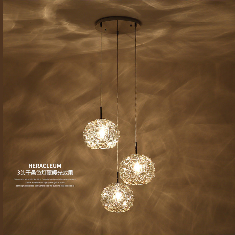 Restaurant Hanging Lights Creative Glass Led Lamp Modern Bedroom Luminaire Single Head Bar Dining Room Small Pendant Light trendy long synthetic red splicing black charming fluffy curly neat bang capless cosplay wig for women