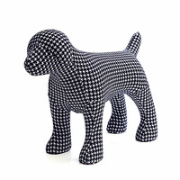 Cartoon Dogs Animals Cloth Dog Statue Craftwork Show Window Decoration Gift Purely Manual, Living Room European Style L2769
