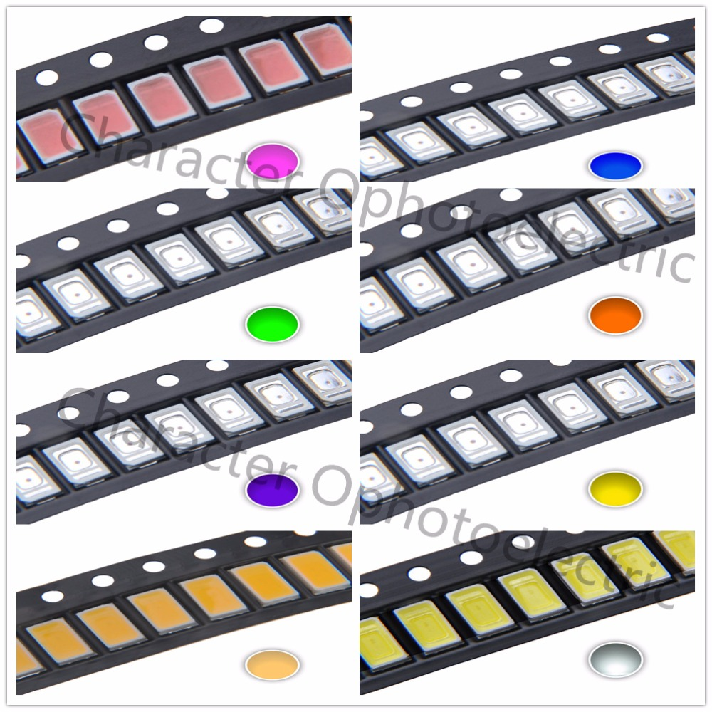100pcs high power 0.5w 1/2w SMD CHIP 5630/5730 red green blue yellow uv led image