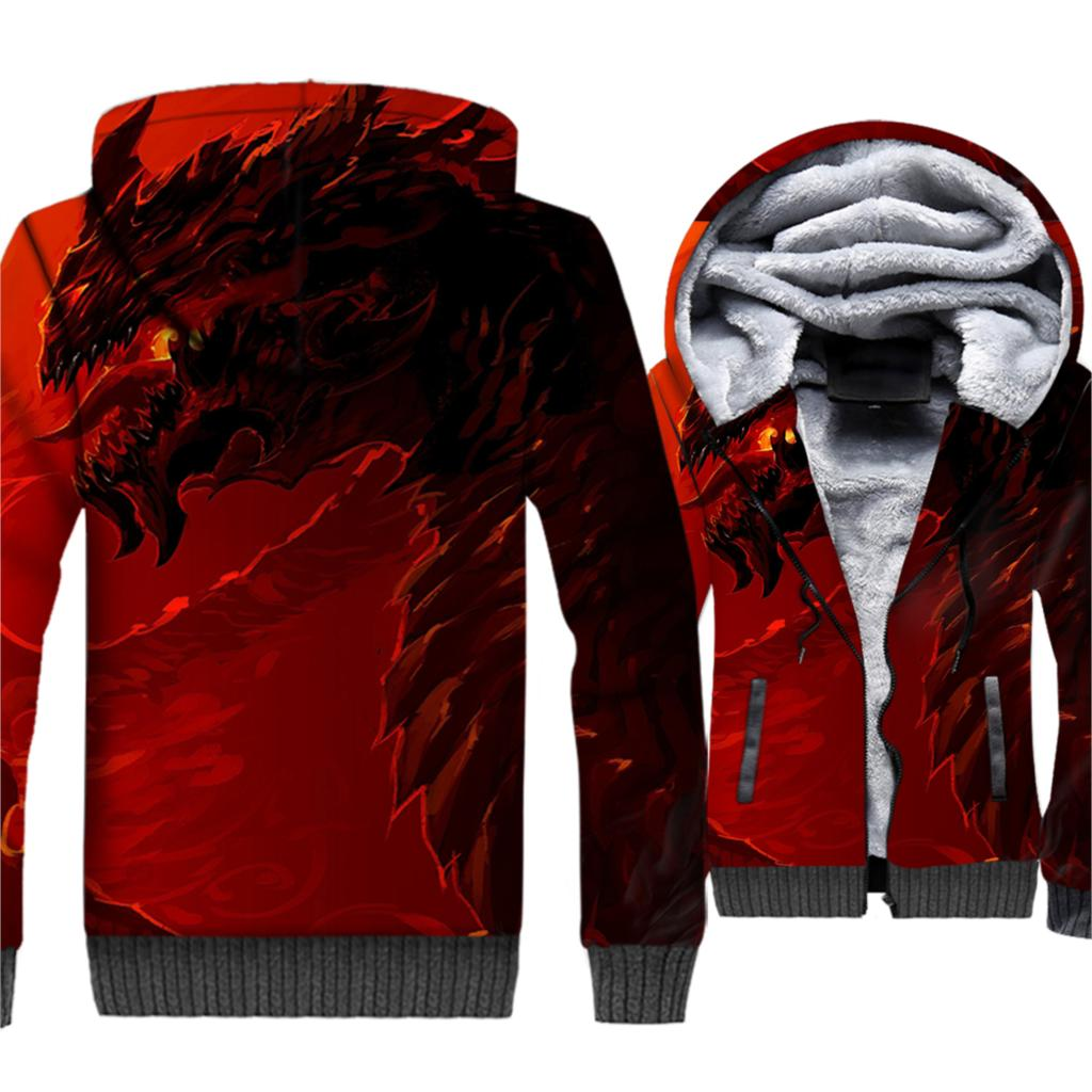 Game Of Thrones Targaryen Dragon Printed Casual Hoodies Sweatshirts Men 2019 Winter Warm Fleece 3D Jacket Men 39 s Plus Size Hooded in Hoodies amp Sweatshirts from Men 39 s Clothing