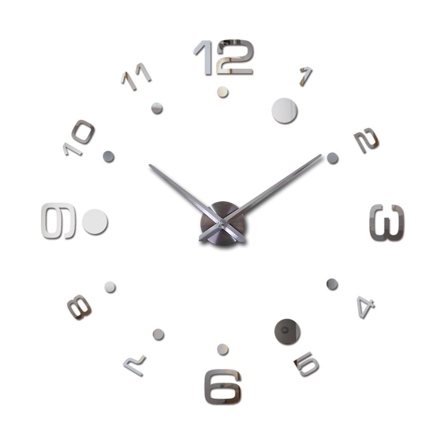 Buy 2017 hot Quartz Watch Wall Clock Acrylic Mirror Diy Clocks Reloj De Pared Horloge Murale Living Room Modern Acrylic 3d Stickers for $8.15 in AliExpress store