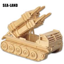 New 3D Diy Wooden Puzzle Toys For Family Games Partriot Missile Educational Adults Montessori Toy Hobby Gift Kids