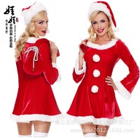 2017 New Adult Women Girls Sexy Christmas Halloween Princess Uniform Dresses Cosplay Costume Christmas Clothes