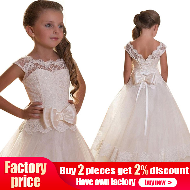 2019   girls   first communion   dresses   for   girls     flower     girl     dresses   for weddings prom   dresses   for kids children baby costume LP-207