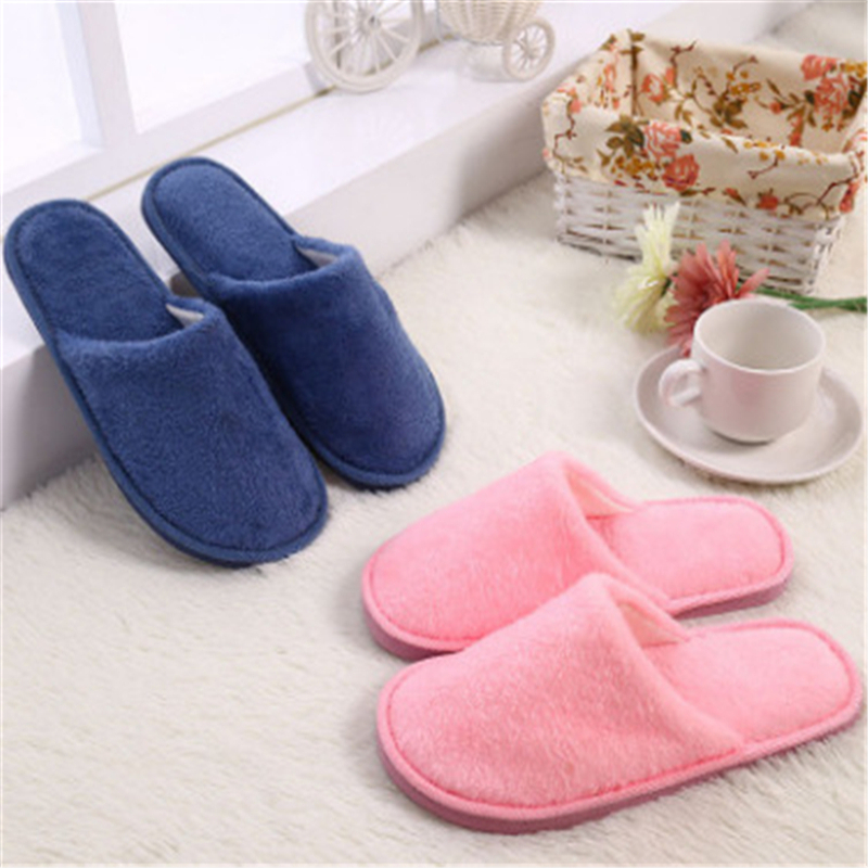 Winter Plush Indoor Slippers Women Men Lovers Solid color Coral Velvet Cotton home house Warm female Slippers Shoes 2017 New new autumn and winter warm men and women cotton padded lovers at house home slippers indoor shoes