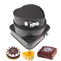 Square Round Heart Shaped Birthday Cake Mold Metal Non Stick Bottom Buckle Metal Chocolate Bread Mousse