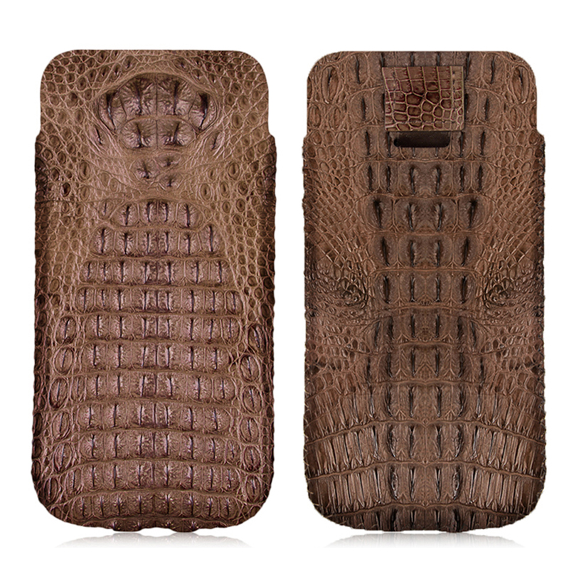 Luxury Genuine Crocodile Leather Case For Samsung Galaxy S9/ Plus Original Crocodile Skin Leather Phone Pouch Bag Cases Holster