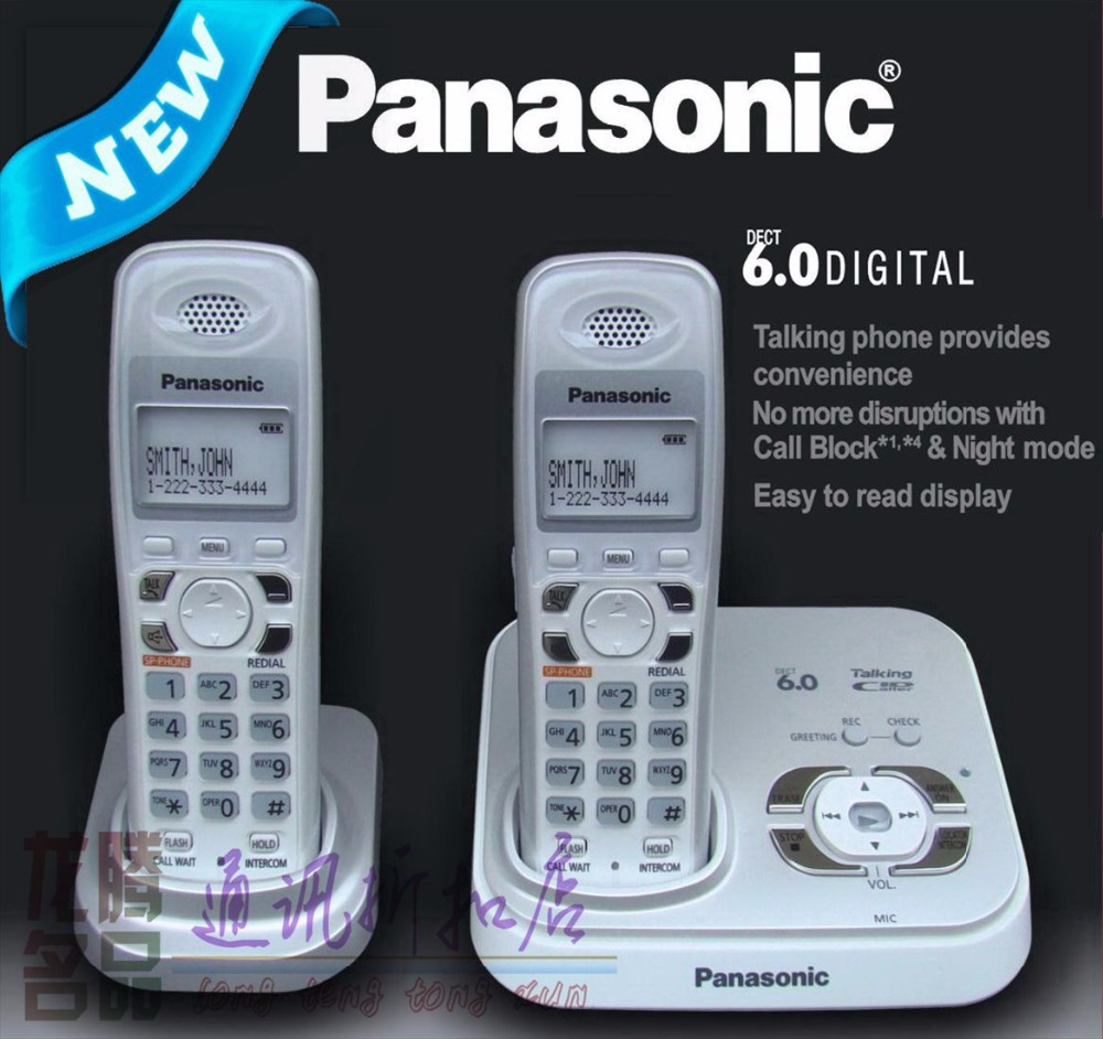 ФОТО KX-TG 9331T DECT 6.0 Expandable Cordless Phone with Answering System Wireless Home Telephone,White limited version, 2 handsets