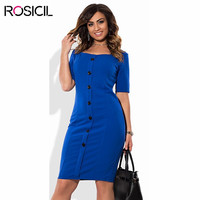 Short Sleeve Plus Size Women Elegant Casual Office Dresses 5XL Big Size Bodycon Dress Red Blue