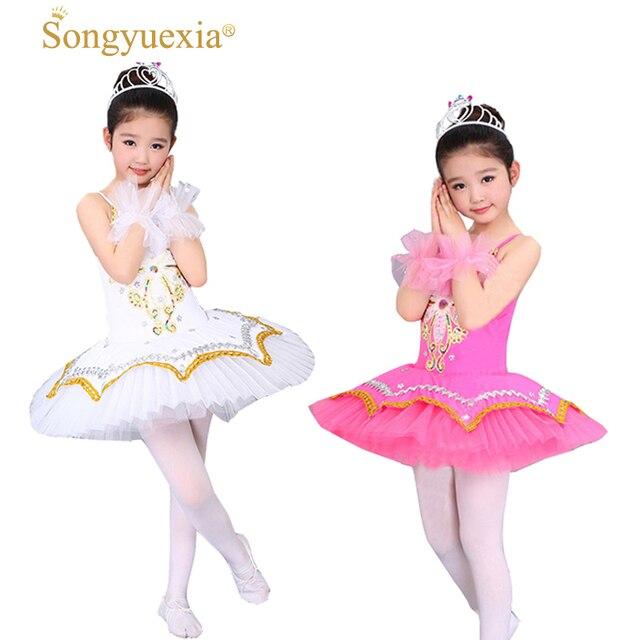 42ff6784bd55 SONGYUEXIA White Swan Children Ballet Skirt Girl Ballets dancewear ...