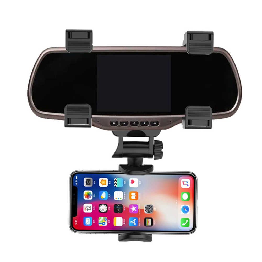 Car Phone Holder Rearview Mirror Mount 360 Degrees Universal For IPhone Mobile Phone GPS car stuff