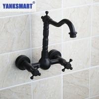 Ouboni Bathtub Faucet Torneira Wall Mounted Oil Rubbed Black Bronze 97113 Bathroom Basin Sink Faucet Mixers