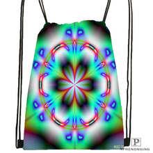 Custom Mandala Buddhist 3 Drawstring Backpack Bag for Man Woman Cute Daypack Kids Satchel Black Back